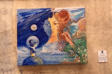 Pays de Fayence peinture femme